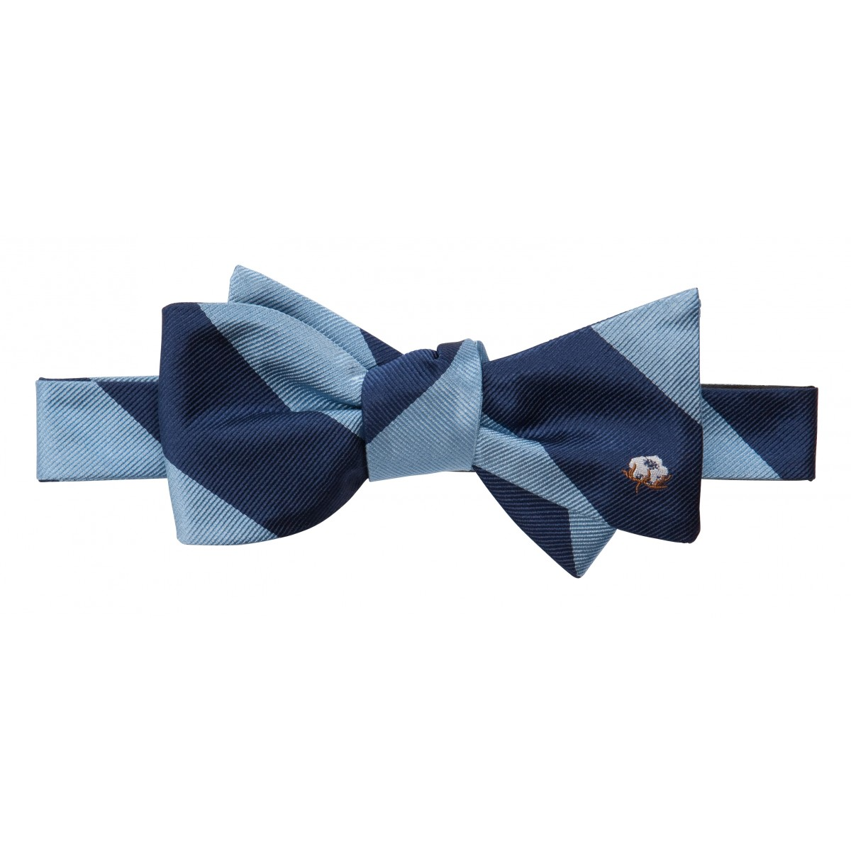 Cotton Boll Bow: Blue & Navy